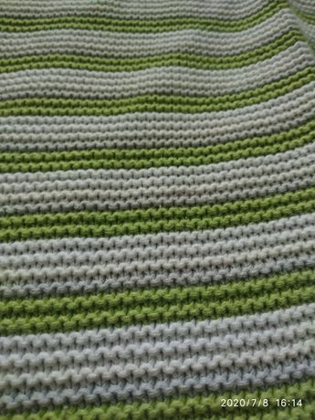 Детский вязаный плед одеяло