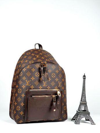 Брендовый кожаный рюкзак сумка Louis Vuitton женский Луи Виттон клатч