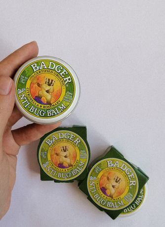 Натуральный репеллент органический бальзам от комаров Badger