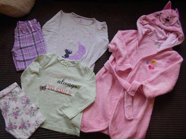 Piżamka,piżamki,szlafrok Lupilu,zestaw na rozm 98/104