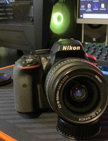 Nikon D5300 com 18-55, 70-300, 17-50, 50mm e duas baterias