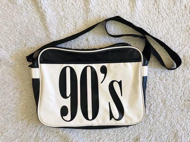 Retro vintage torba duża z nadrukiem na laptopa w podróż na siłownię