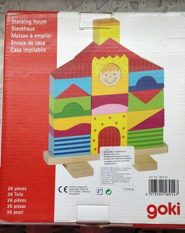 GOKI drewniana układanka domek 58914