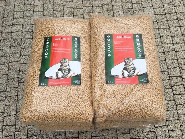 Żwirek dla kota królika chomika Pellet sosnowy eko ściółka 15 kg /37 l
