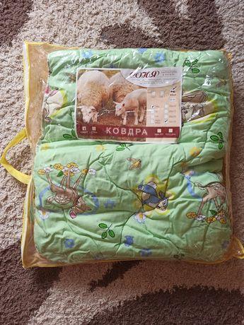 Детское тёплое одеяло 110 × 140 овчина