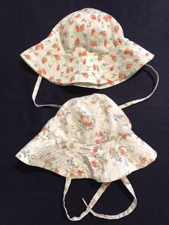 Newbie i Lindex dwa kapelusiki w kwiaty r 42/44 i 44/46