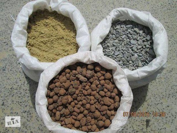 Песок в мешках керамзит отсев цемент 500щебень грузчики занос на этаж
