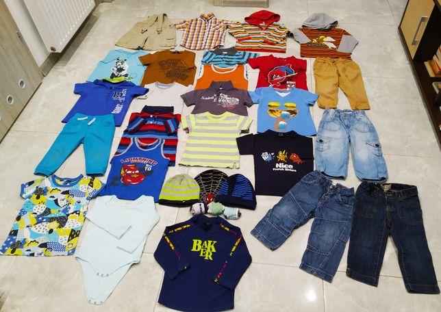 Ubranka paka 66szt dla chłopca rozmiar 86-92 buciki i inne