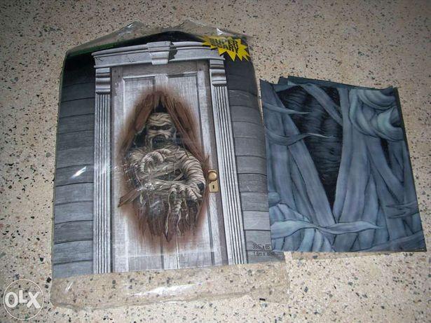 Decoraçãorealista de Halloween para paredes e vidros