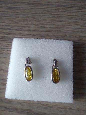 Kolczyki srebrne z kryształkami