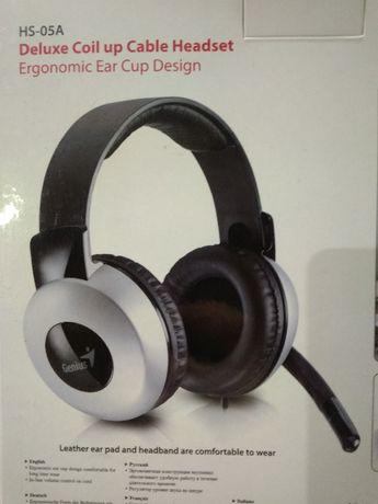 Słuchawki z mikrofonem GENIUS HS-05A NOWE!!!