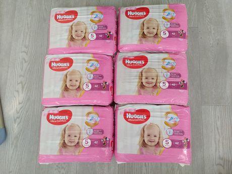 Подгузники Huggies Ultra Comfort 5 Jumbo для девочек, 42 шт