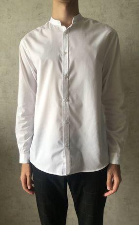 Приталенная белая рубашка L