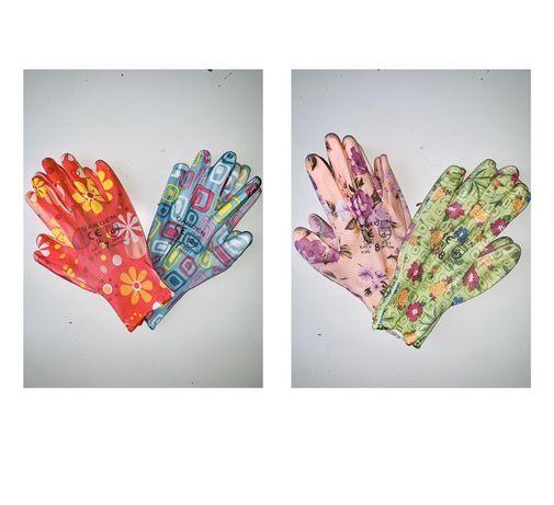 Rękawiczki damskie ogrodnicze ogrodowe/ robocze  rękawice kolorowe S/M