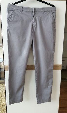 Szare spodnie loog roz 42 XL materiałowe damskie kieszonki casual