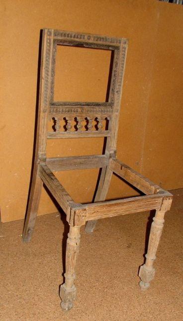 Zabytkowe krzesło do renowacji