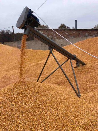 Шнековый погрузчик транспортер (винтовой конвейер, шнек) зерна.