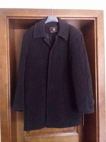 Czarno-szary męski płaszcz zimowy - rozmiar L