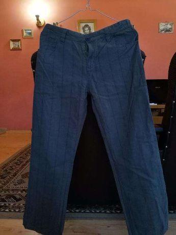 Spodnie materiałowe chłopięce 152 cm regulacja