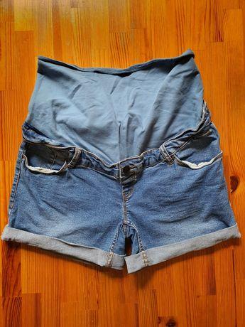 Spodenki ciążowe jeansowe, Kiabi, króciutkie, rozmiar 38, jak nowe