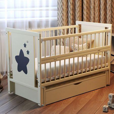 Новая Детская Кроватка Звездочка. Маятник, ламели. Бук