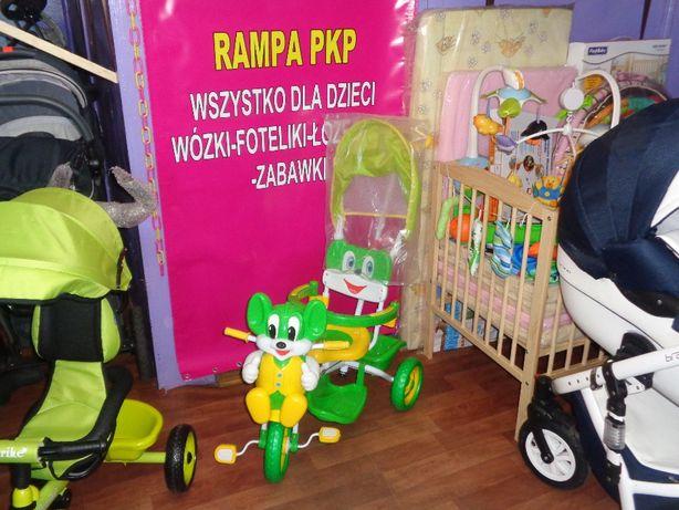 Rowerek Nowy Sklep i Komis RAMPA PKP (koło przejazdu)