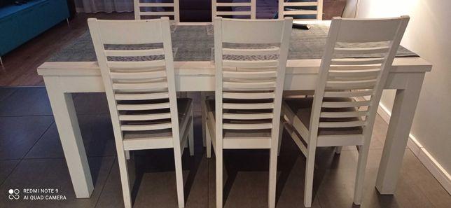 Krzesła białe 8 szt