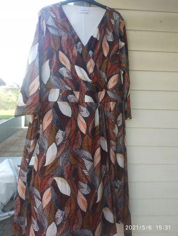 Sukienka trapezowa kopertowa r. 44