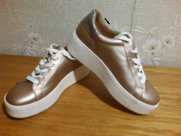 NOWE buty sportowe sneakersy złote roz.37