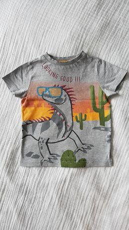 T-shirt chłopięcy  98 F&F z cekinami