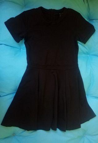 Sukienka mała czarna zip H&M S