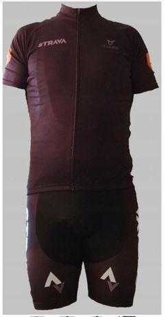 Komplet / strój kolarski STRAVA rozm. XL