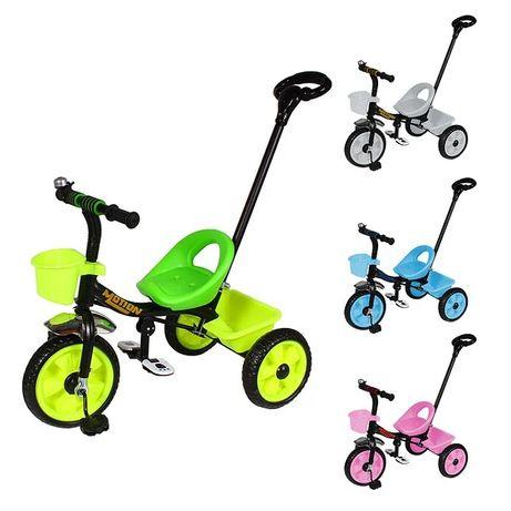 Детский трёхколёсный велосипед с родительской ручкой
