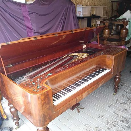 Fortepian stolowy Antyk sprawny Zadbany ok 1860 - 1880 rok