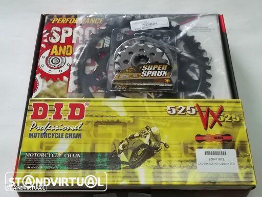 Kit Transmissao com corrente DID VX X-Ring Honda CBF 500  de 2004 a 2008
