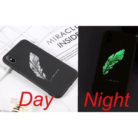 Светящийся чехол для телефона iPhone 7 Plus / 8 Plus / X силиконовый