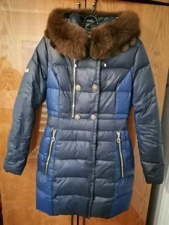 Пуховик натуральный зимний, куртка тёплая