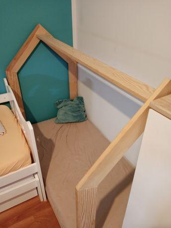 Łóżeczko domek 140x70+ materac