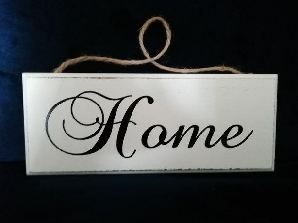 Tabliczka Home drewniana shabby chic