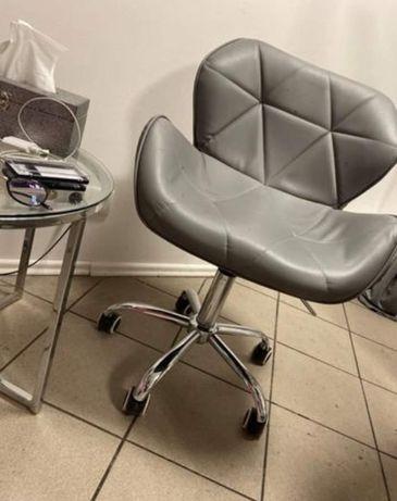 Krzesło fotel kosmetyczny hydrauliczny szary