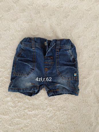 Spodenki jeansowe r. 62