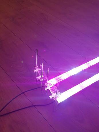 Dwie belki power led \ 24 wat \oświetlenie led do akwarium .