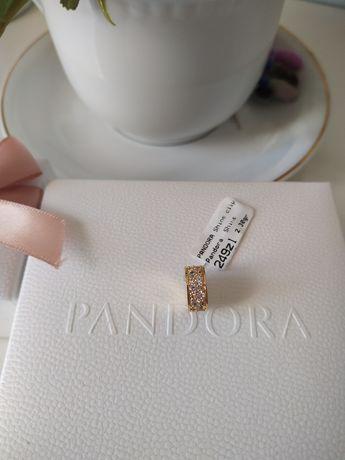 Pandora shine klips charms Przezroczyste Kamienie Pave Moments