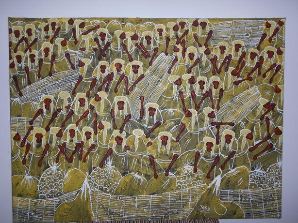 Interessante ORIGINAL do FAMOSO artista TONY CAPELLAN (1955 a 2017).