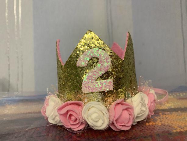Корона обруч цифра 2