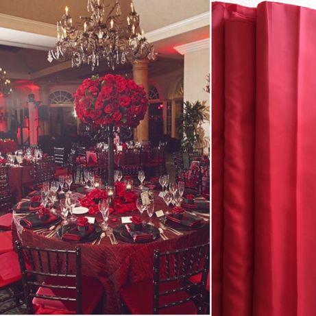 Ślub wesele kolor przewodni czerwień