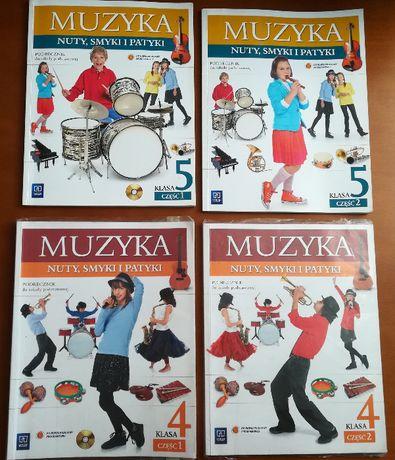 Muzyka. Nuty, smyki i patyki 4,5. Podręczniki + płyty CD