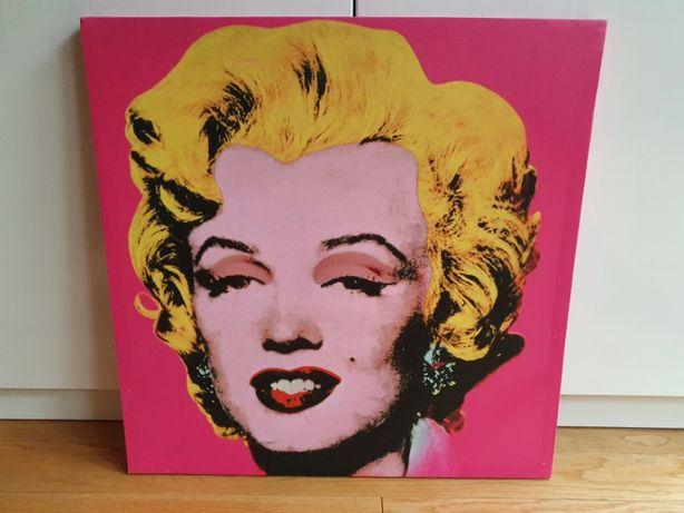 Obraz pop-art Marylin Monroe neonowy róż