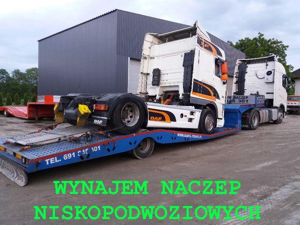 Wynajem Naczep Niskopodwoziowych 24 H -Transport Ciągników Siodłowych