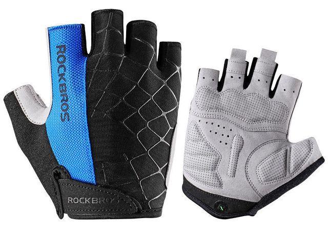 Rękawiczki rower RockBros pół-palce unisex M logo rzep